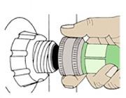 Connect a garden hose to the drain valve of your old heater and run it outdoors or to a drain.