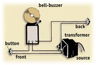 The wiring  arrangement for a combination bell and buzzer is shown here.