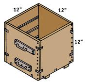 Measure a cubic foot of sand or concrete with a wooden box measuring 12 x 12 x 12 inches.