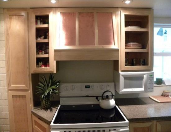 Wood Range Hood Cabinet