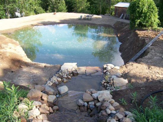 500 000 gal diy swimming earth pond