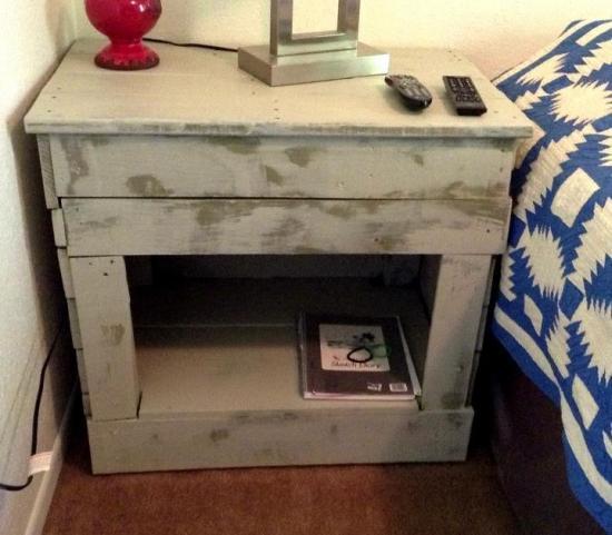 Pallet wood nightstand doityourself pallet wood nightstand share your diy solutioingenieria Image collections