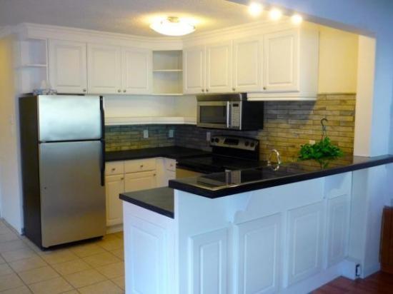 My faux tile backsplash for Do it yourself kitchen backsplash