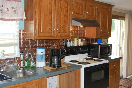 small mobile home kitchen mobile home kitchen remodel birch cabinets doityourselfcom