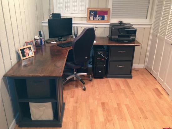 Custom Corner Desk With Drawers Pullout Keyboard And Shelves Doityourself Com