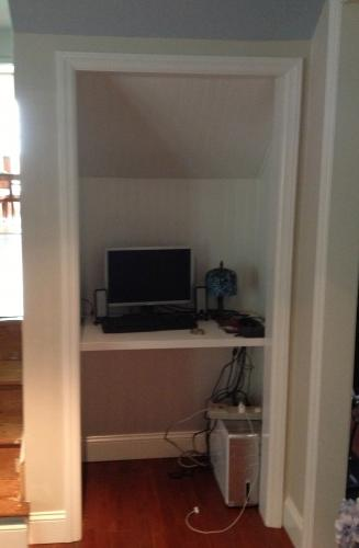Converted Under Stairs Closet To Desk Area