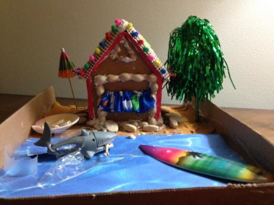 Christmas Decorations For The Beach House : Gingerbread beach house doityourself