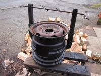 Wheel RIm Wood Stove