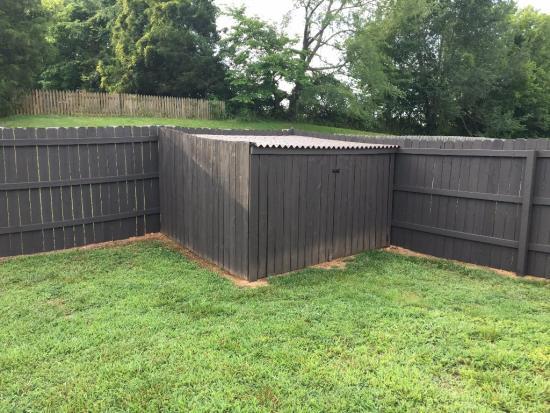 DIY Privacy Fence Corner Storage Shed